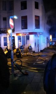 Upper St James's Street fire by Pacta Connect from Twitter