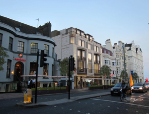 An artist's impression of the new look for the bottom of West Street in Brighton