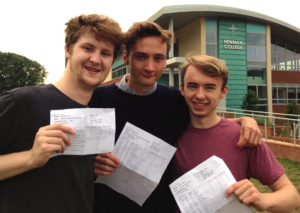 Cardinal Newman A-level results 2016 students outside Newman College