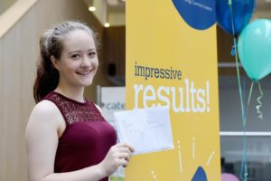 Dace Reizupa collects her A-level results at BACA today - Picture by Simon Dack / Vervate