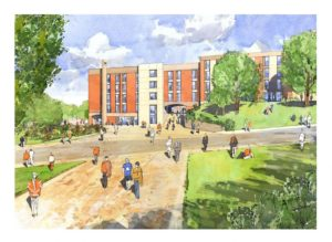 Sussex University proposed reception hub - Artist's impression courtesy of TP Bennett and Balfour Beattty