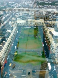 i360 view of Regency Square with glare