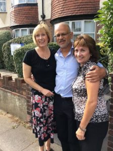 Dr Alex Khot with colleagues Nicki Terry and Jill Hilton outside Links Road Surgery in Portslade