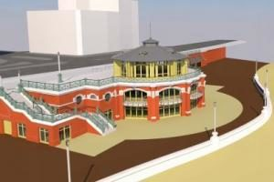 An artist's impression of the proposed replacement Shelter Hall on Brighton seafront