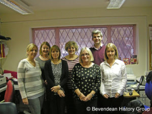 Staff at the Willow House surgery in 2012 - Picture courtesy of the Bevendean History Group