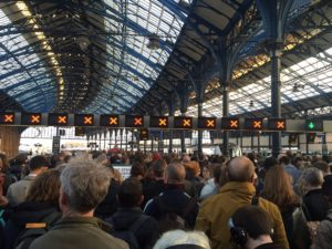 Chaos at Brighton Station this morning. Picture by Steve Bassam on Twitter