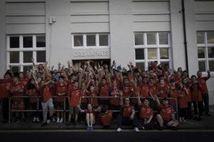 Members of Brighton Table Tennis Club celebrate the reopening of their Kemp Town premises