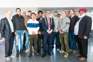 Brighton and Hove Mayor Pete West met staff and students when he visited the College of Life Health and Physical Sciences in Moulsecoomb