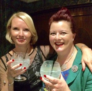 Autor and blogger Katie Kirby and Helen Chesshire, from Brighton Gin