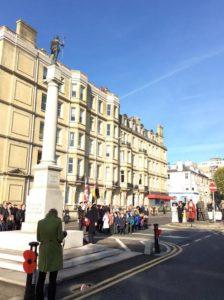 Dudley Button lays a wreath on Armistice Day on behalf of the Royal British Legion