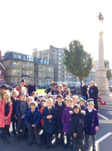 Mayor Pete West with children from St Andrew's CE Primary School