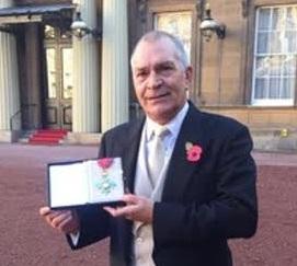 Councillor Steve Bell at Buckingham Palace