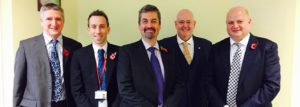 Head teachers Richard Bradford, Ashley Harrold, Rob Reed, William Deighan and Nick Wergan