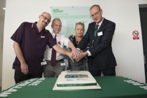 Leigh Harvey, lead cancer nurse at BSUH, David Bloomfield, incoming chairman of the Sussex Cancer Fund and clinical oncologist at BSUH, Sarah Cutting, Macmillan supporter and fundraiser, and Geoff Brown, Horizon Centre manager