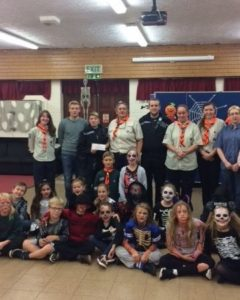 Members of the 55th Brighton (Moulsecoomb) Scout Group