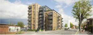An artist's impression of the Artisan apartments in Hove
