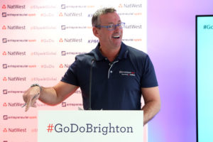 Jim Duffy at the Brighton Summit organised by the Chamber of Commerce
