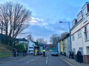 Bomb disposal experts in Hollingdean Road - Picture by Alun Callender