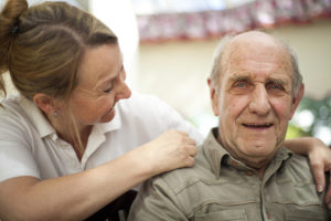 Stock image of carer and patient by Mark Adkins on Flickr
