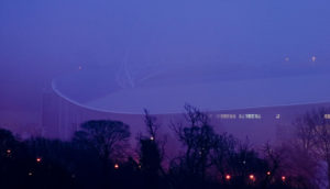 Amex Stadium in the mist by Dominic Alves