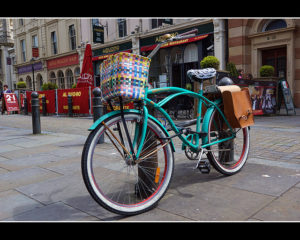 Bicycle in Brighton by Helen Haden
