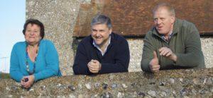Councillors Dawn Barnett, Tony Janio and Nick Lewry