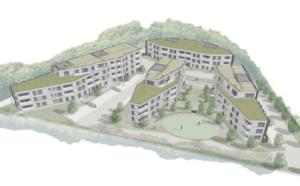 An artist's impression of the scheme for Court Farm House in Hove