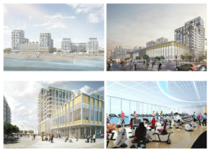 An artist's impression of Crest Nicholson's initial designs for the King Alfred site in Hove