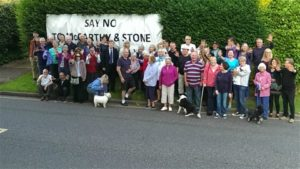 Some of the people in Patcham who oppose plans by McCarthy and Stone to demolish five homes and build a retirement complex