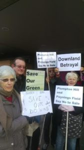 Protesters outside Hove Town Hall - Picture by Brenda Pollack