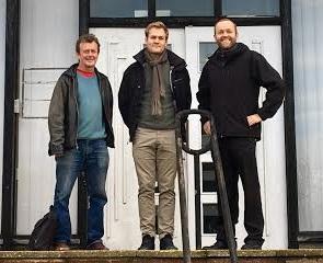 Councillor David Gibson with Simon Lambor and Councillor Tom Druitt