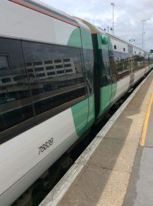 A Southern train at Brighton Station