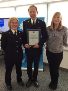 Inspector Roy Apps, wife his Helen and Chief Superintendent Lisa Bell
