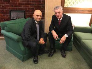 Sajid Javid and Simon Kirby