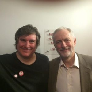 James Ellis and Jeremy Corbyn