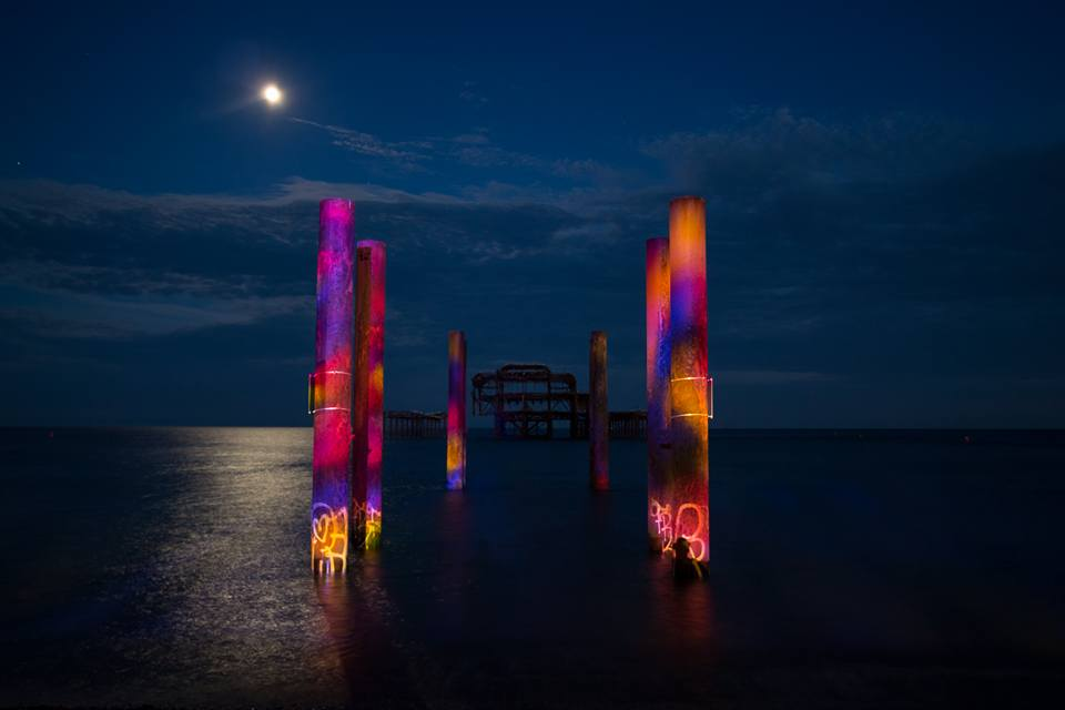 West Pier Transformed By Light Show