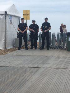 Armed police keep the Brighton Marathon safe   Image by Tamara Birch