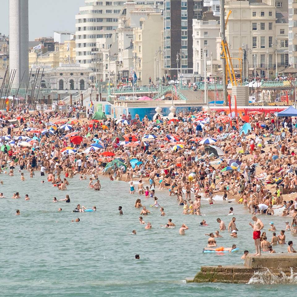 Health chiefs issue warning as Brighton faces bank holiday weekend heatwave