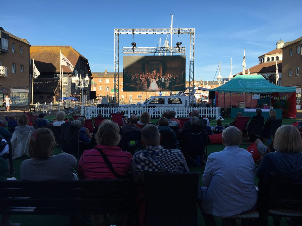 Brighton Marina big screen returns today